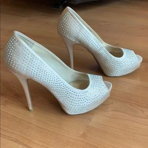 Jennifer Lopez Blingy Blush Heels